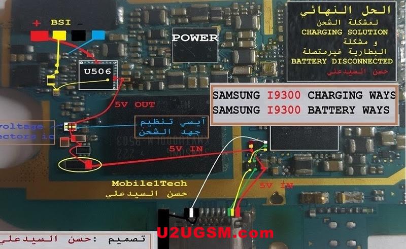 Samsung Galaxy S3 I9300 Battery Connector Terminal Jumper Ways