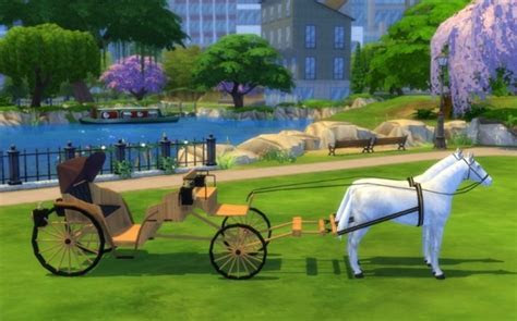 Wedding carriage by Maman Gateau at Sims Artists » Sims 4