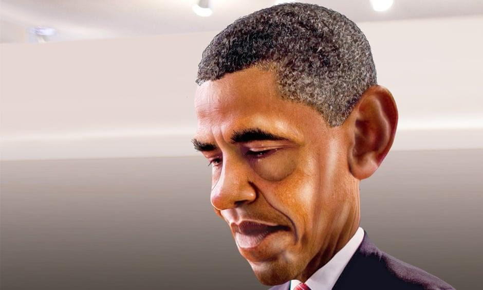 obama head down cartoon