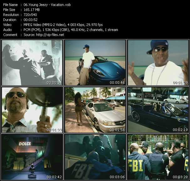 Young Jeezy - Vacation - Download High-Quality Video(VOB)