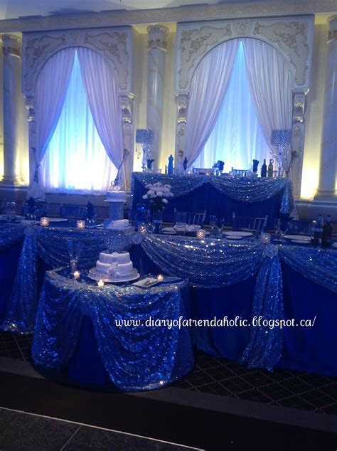 Diary of a Trendaholic : Blue and Silver Wedding