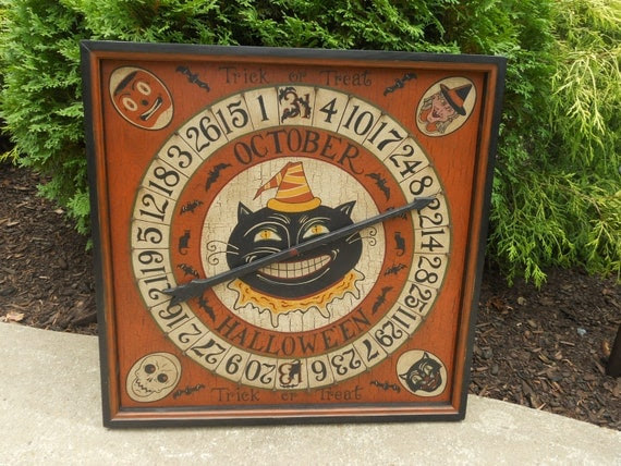 Primitive / Folk Art Halloween Roulette Game Board