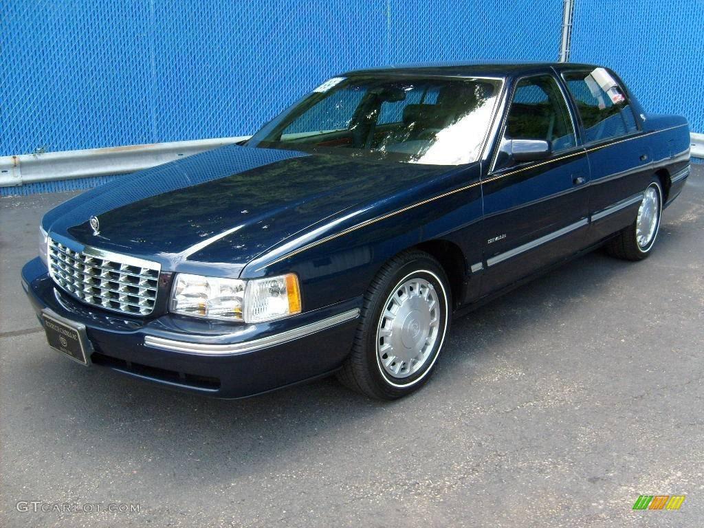 1999 Dark Adriatic Blue Cadillac DeVille Sedan #15816945 ...