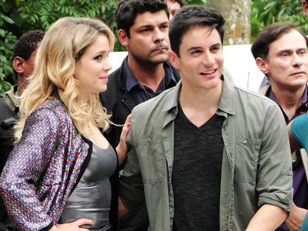 Rosário e Inácio: confusão com final feliz (Foto: Cheias de Charme / TV Globo)
