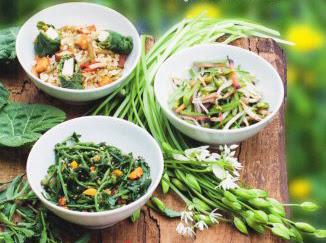 piatti a base di erbe spontanee