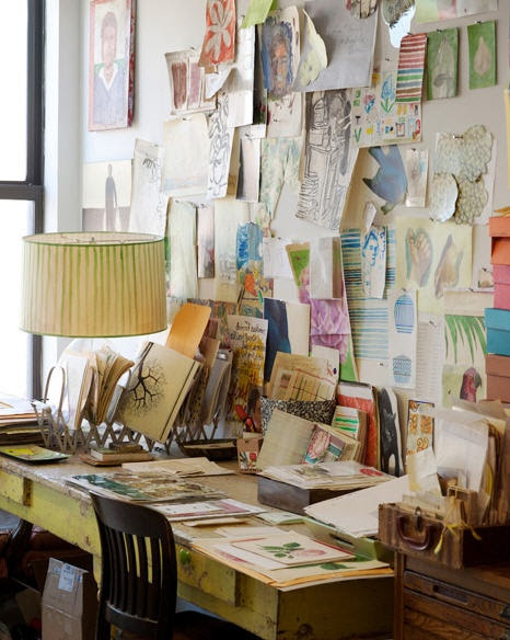Inspiration Board.  I need this as opposed to all the closed magazines and books laying around.