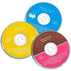 Personalized Favor CD Labels   The Knot Shop