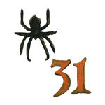 Sizzix - Tim Holtz - Alterations Collection - Movers and Shapers Die - Mini Spider and 31