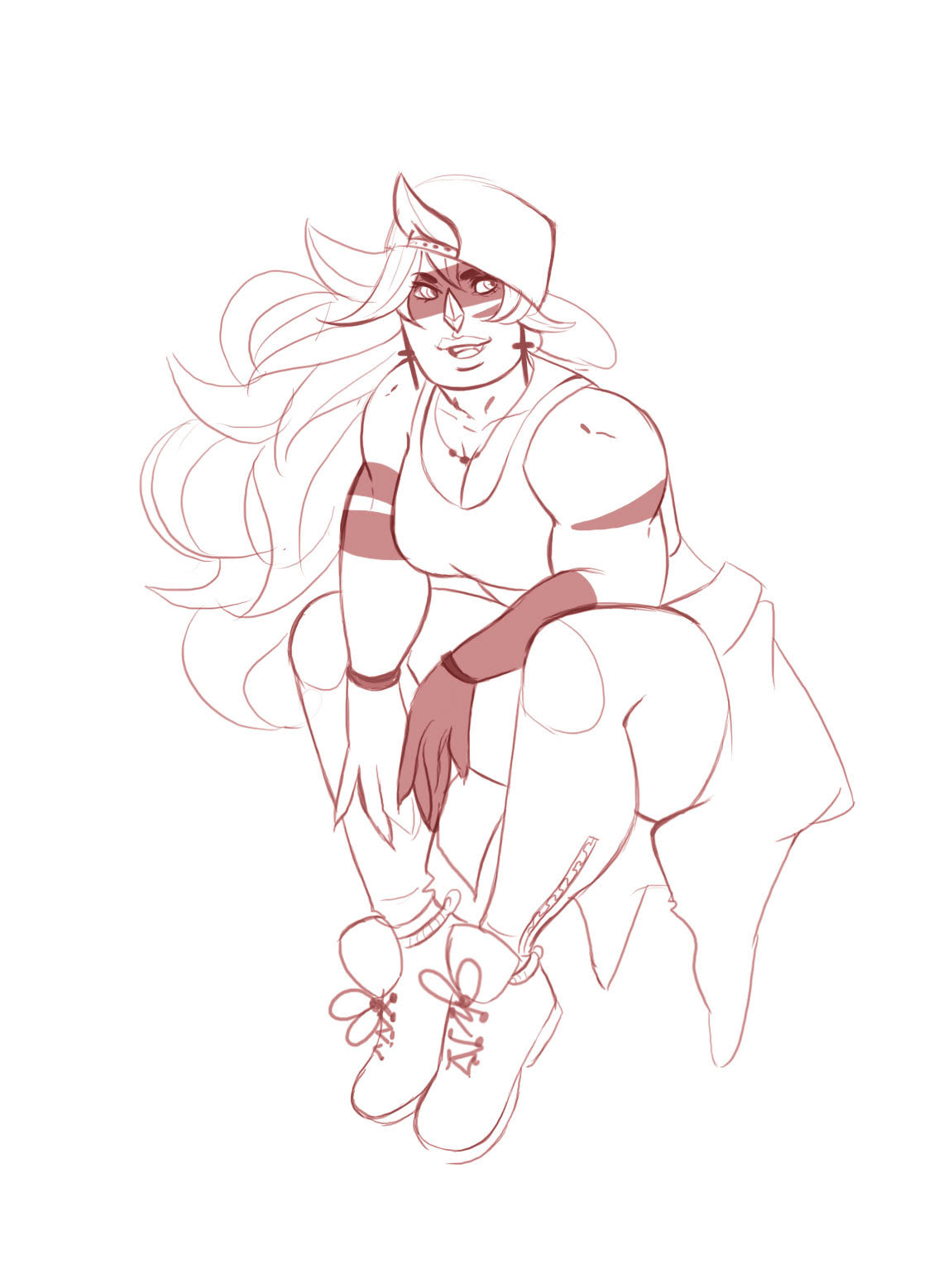 I doodled Jasper in clothing im wearing today. Might color it when I get home.