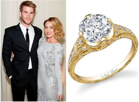 The First Replica Of Miley Cyrus? Engagement Ring Is Here