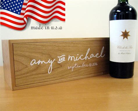 Wedding Wine Box from High Point Gifts in Kingston NH