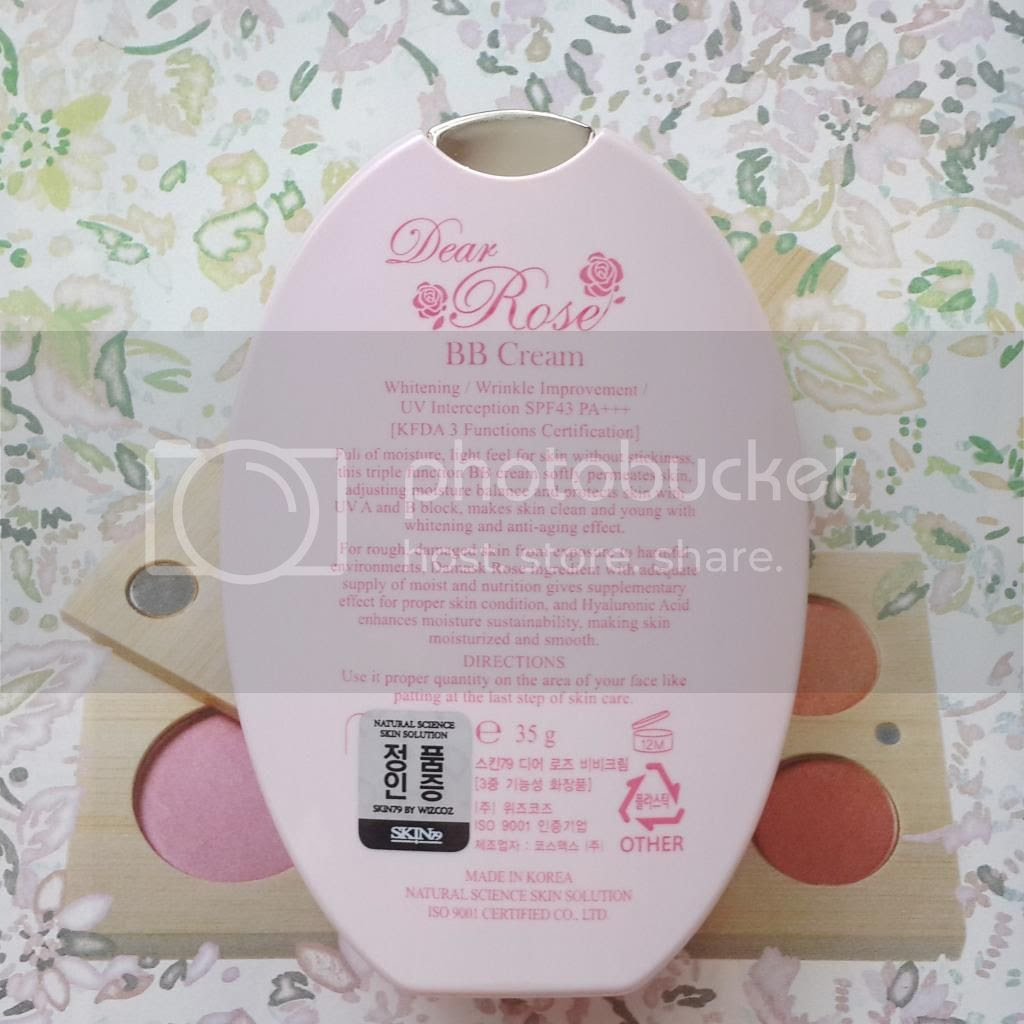 dear rose bb cream description
