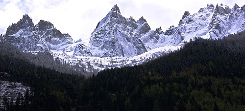Grand mountains in Chamonix, France