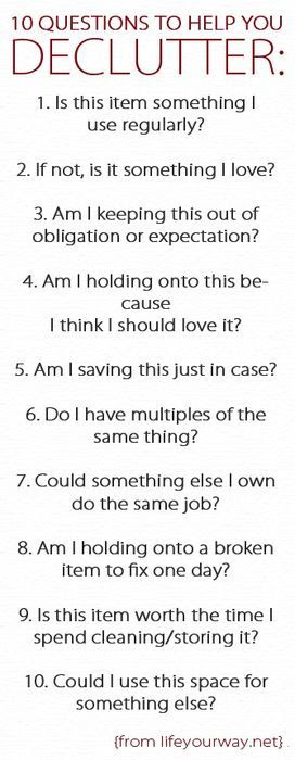 10 Questions to Help You Declutter your home #selling #realestate