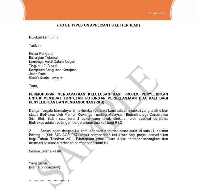Contoh Surat Rayuan Pembetulan Lhdn Kecemasan K