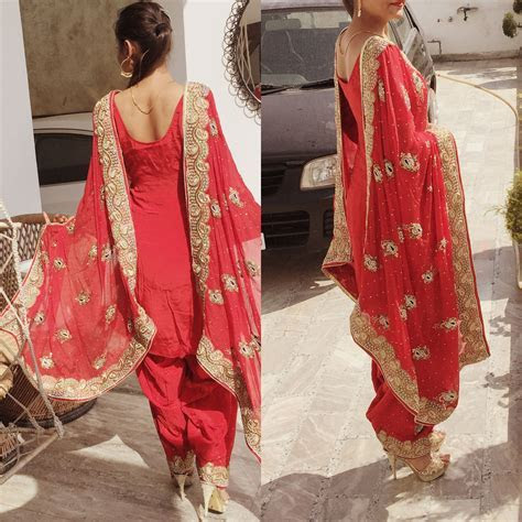email sajsacouture@gmail.com for this red punjabi suit