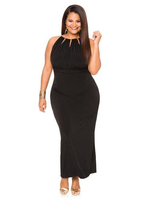 Keyhole Halter Maxi Dress Plus Size Dresses Ashley Stewart