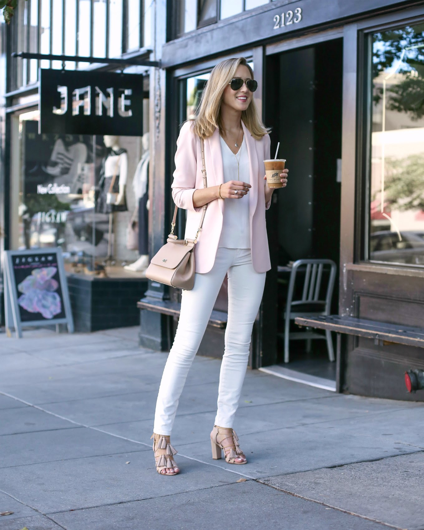 casual-friday-blush-blazer-white-skinny-jeans-nude-tassel-sandals-jane-fillmore-street-coffee-shop-san-francisco-style-fashion-blog4
