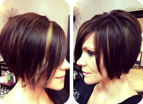Hairstyles Chin Length Angled Bob Hairstyles