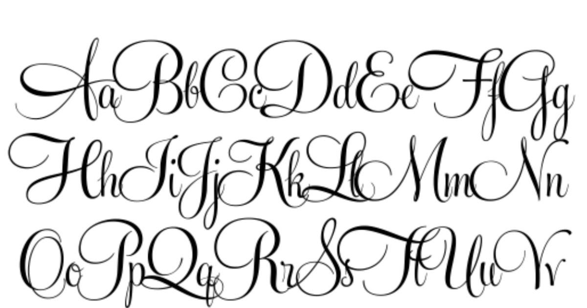 Cool Cursive Fonts Alphabet - Best Letter Cursive