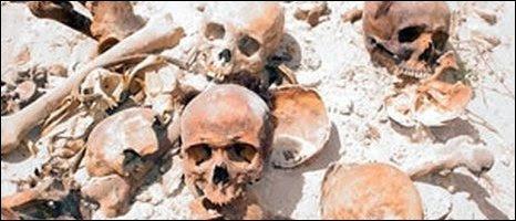 Destroyed graves