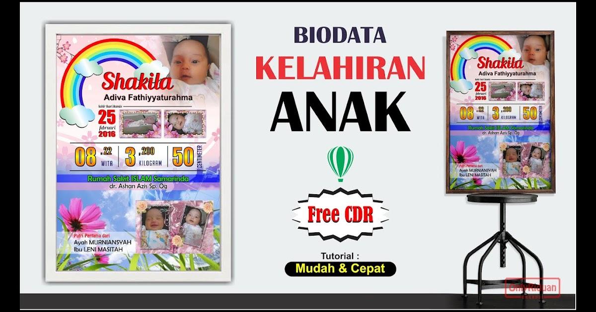 Download Kartu Nama Bayi Cdr - membuat kartu ucapan