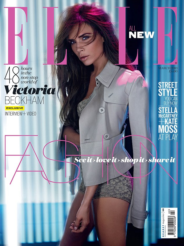 See Victoria Beckham's full photo shoot and read the interview in the March issue of ELLE UK, on sale January 30