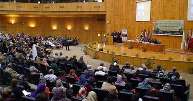 جانب من المؤتمر الدولى السابع للتنمية بجامعة أسيوط