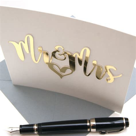 Luxe Gold Mr and Mrs Card   Shop Online   Hummingbird Card