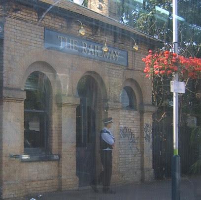 Policeman at Kew Gardens Station