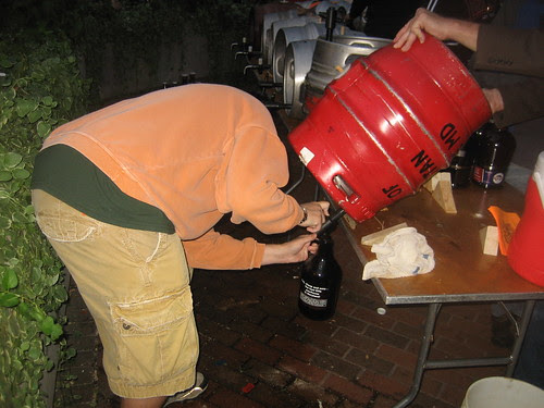 Filling a growler