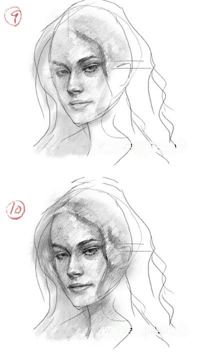 learn to draw realistic face