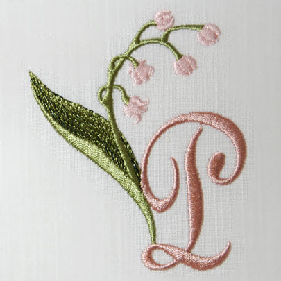 Lily Of The Valley Alphabet P Sonia Showalter Designs