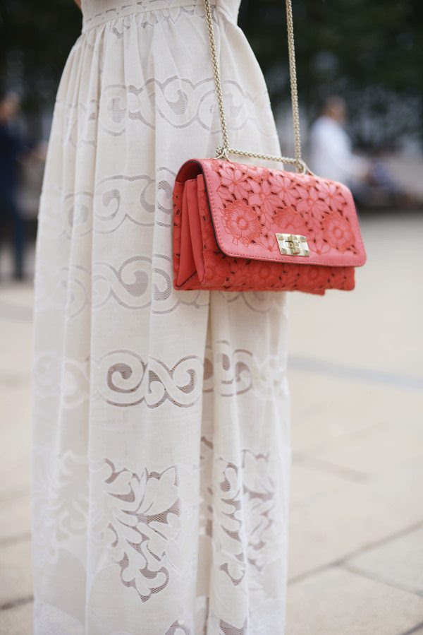 HallieDaily: Maxi-Dress-Valentino-Bag-Shoes