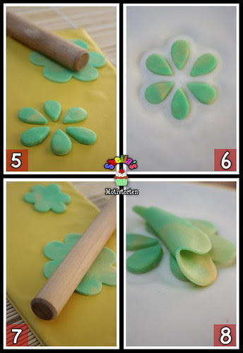 3D Fondant Flower [Step 5-8]
