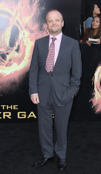 Actor Toby Jones arrives at 'The Hunger Games' Los Angeles premiere held at Nokia Theatre L.A. Live on March 12, 2012 in Los Angeles, California.