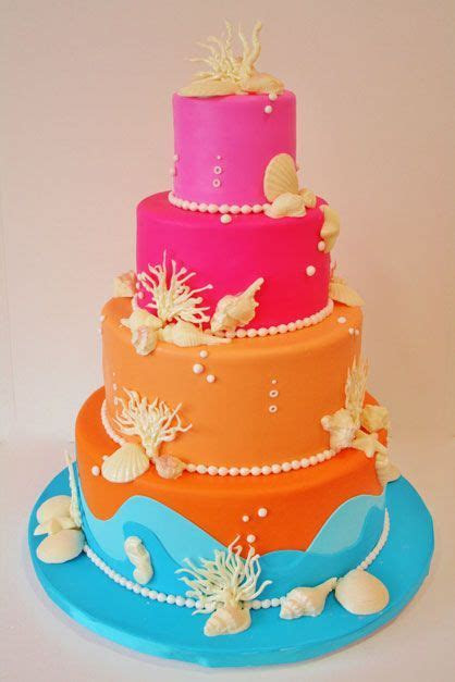 Bat Mitzvah Cakes NYC   Summer in February Custom Cakes