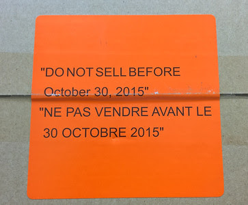 warning, do not sell before October 30, 2015