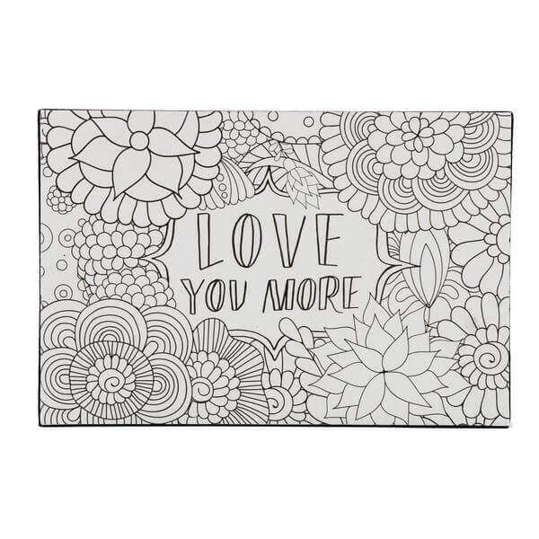 Color Joy Block Wall Art Love You More Dci Gift