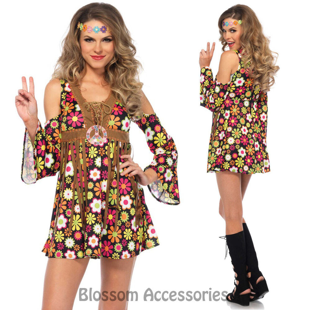 ca79 starflower hippie 1960s disco hippy 70s fancy dress