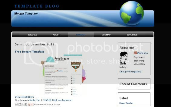 Cornert Blogger Template