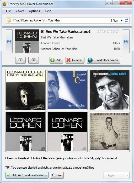 mp3 cover downloader
