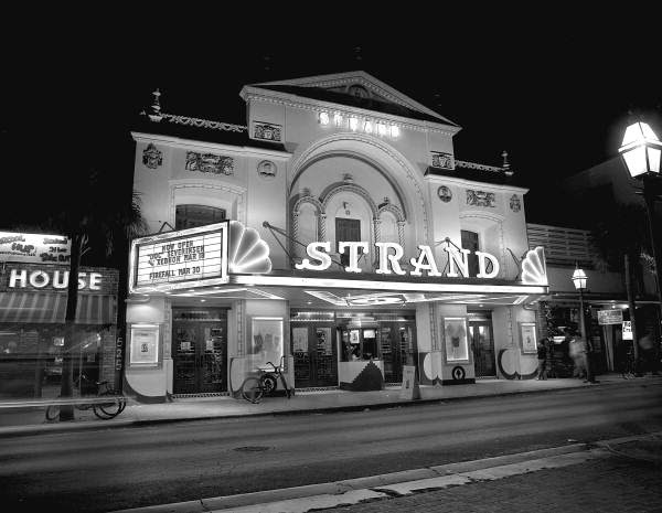 Night view of the Strand Theatre at 527 Duval Street - Key West, Florida