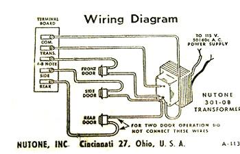 Wiring Diagram Doorbell Chime Home Wiring Diagram