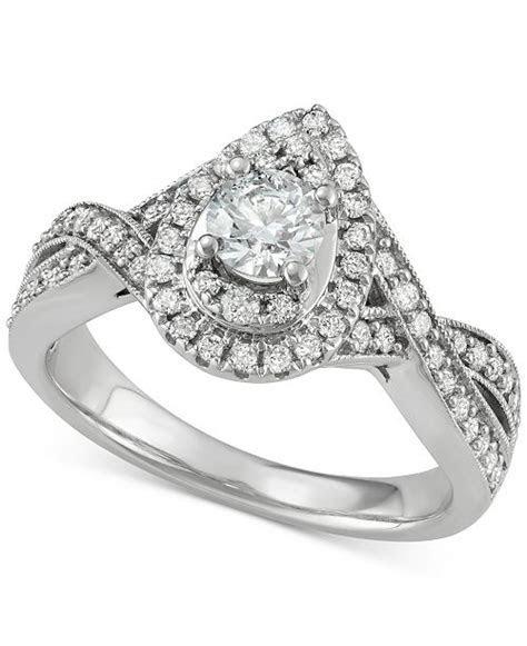 Macy's Diamond Teardrop Engagement Ring (1 ct. t.w.) in