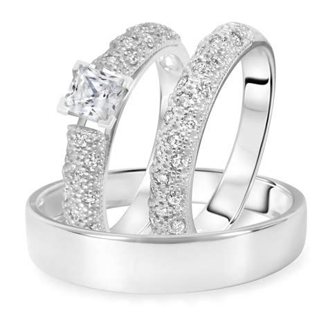 1 CT. T.W. Diamond Ladies Engagement Ring, Wedding Band