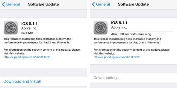 Update iOS 8.1.1
