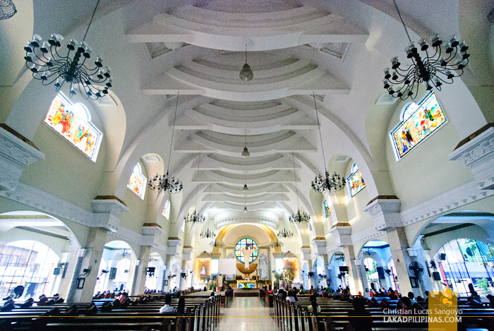 Traditional Church Interior at Iligan City's Pink Cathedral