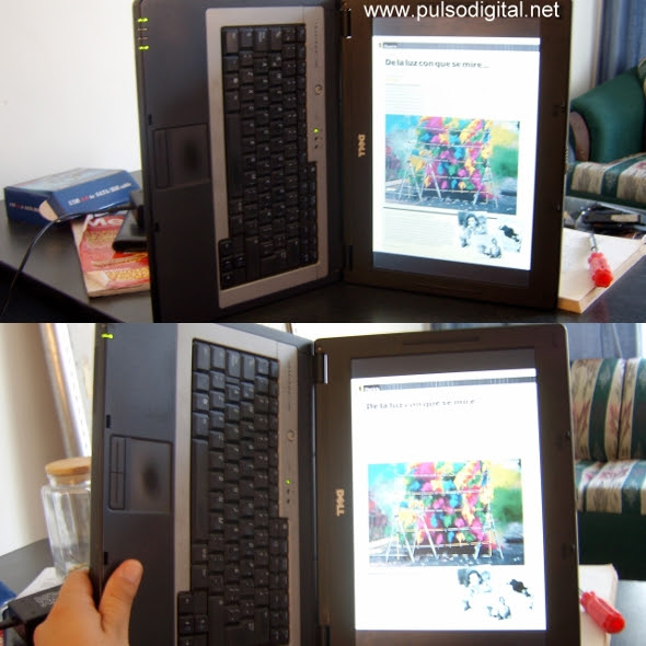 Convierte cualquier laptop en un lector de libros digitales