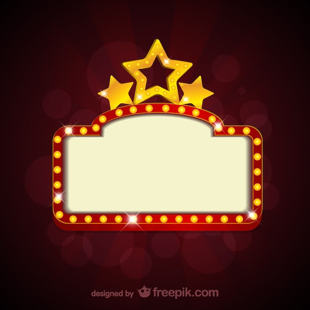 Blank movie theater sign Vector | Free Download